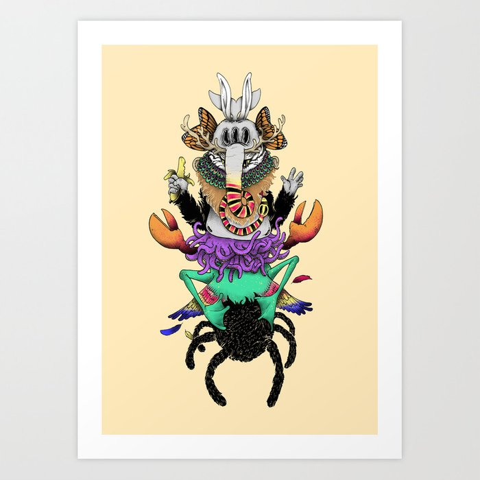 Manymals. Art Print