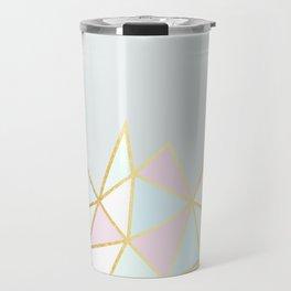 Gold & Pastel Geometric Pattern Travel Mug