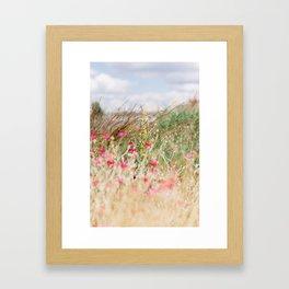 Aquarelle dreams of nature Framed Art Print