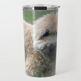 Smiling Soft Coated Wheaten Terrier Travel Mug