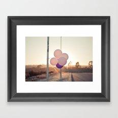 pink + purple Framed Art Print