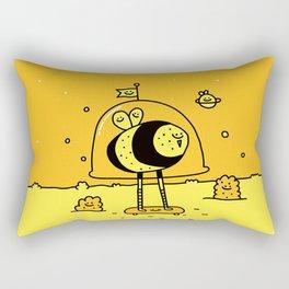Happy Space Bee Rectangular Pillow