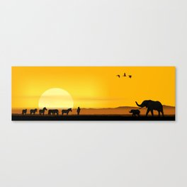 Morning in the African savannah Canvas Print