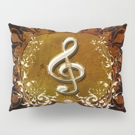 Music, wonderful decorative clef Pillow Sham