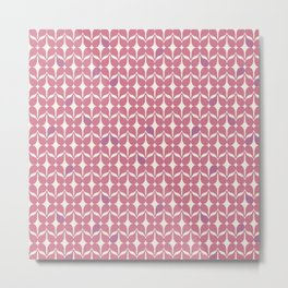 Geometric Acrylic Pattern - Blush Pink Metal Print