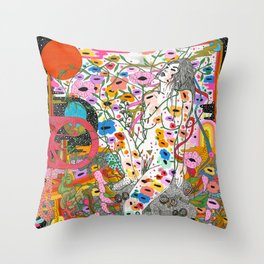 Wildflower Ghost Throw Pillow