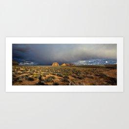Winter storm on the mesa Art Print