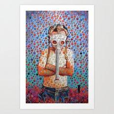 Niño después del Tsunami Art Print