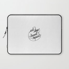 eat, sleep, travel, repeat   [black] Laptop Sleeve
