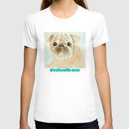 Pug face brown T-shirt
