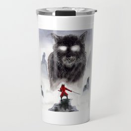 The Wolf of Bushido Travel Mug