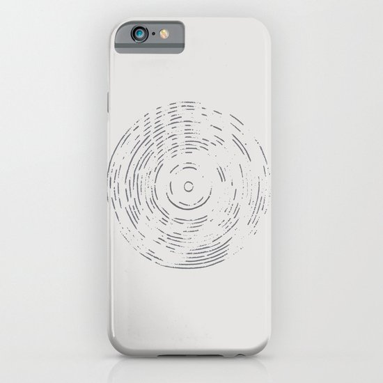 Record Black and White iPhone & iPod Case