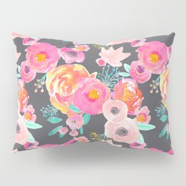 Indy Bloom Design Blush Grey Florals Pillow Sham