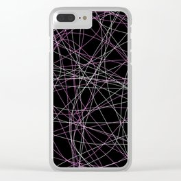 Colored Line Chaos #20 Clear iPhone Case
