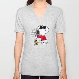 Joe Cool Snoopy Unisex V-Neck