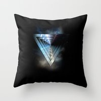 abyss Throw Pillows featuring Abyss by ujangajojing