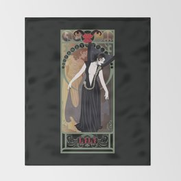 Dark Lili Nouveau - Legend Throw Blanket
