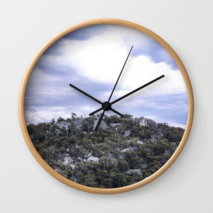 Storm Threatened Mountain Wall Clock