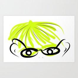 Girlie Geek Art Print
