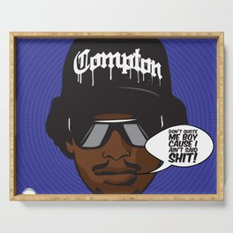 𝖂𝖊𝖘𝖙 𝕮𝖔𝖆𝖘𝖙 𝕷𝖊𝖌𝖊𝖓𝖉𝖘 - 𝕰𝖆𝖟𝖞-𝕰 Eric Lynn Wright Eazy Compton Gangsta Rap L.A. - 3E Serving Tray