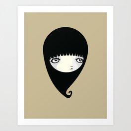 Black Drop Art Print