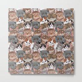 Social Cats Metal Print