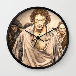 Culloden color (Outlander) Original artwork Wall Clock