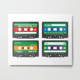 Teenage Mutant Ninja Mixtapes Metal Print