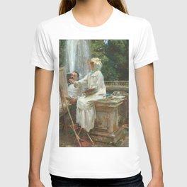John Singer Sargent - The Fountain, Villa Torlonia, Frascati, Italy T-shirt