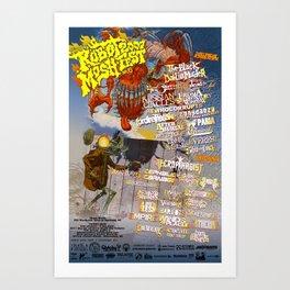 Robot Mosh Fest V - Summer 2007 Art Print
