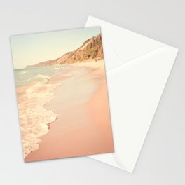 Her Mind Wandered Back and Forth With the Waves Stationery Cards