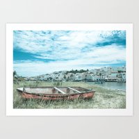 portugal Art Prints featuring Portugal by Sandy Broenimann