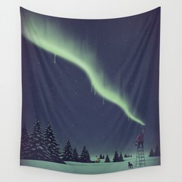 Winter Painting Wall Tapestry
