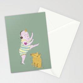 good morning sunshines, lets exercise! Stationery Cards