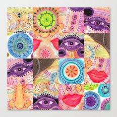 vibrant playful rhythm Canvas Print