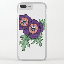 Delicate As A: Hollyhock Clear iPhone Case