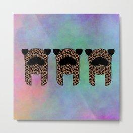 Pugs leopard three Metal Print