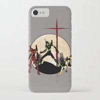 neon genesis evangelion iPhone & iPod Cases featuring Neon Genesis Evangelion - Hill Top by kamonkey