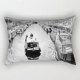 London canal during winter Rectangular Pillow