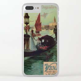 Paris Venice Victorian romantic travel Clear iPhone Case