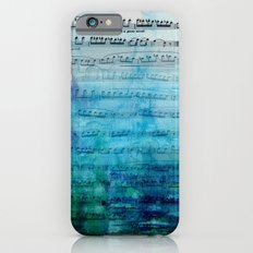 Blue mood music iPhone 6 Slim Case