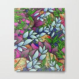 Floral Abstract Artwork G464 Metal Print
