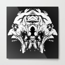 A Scream Reversal Metal Print
