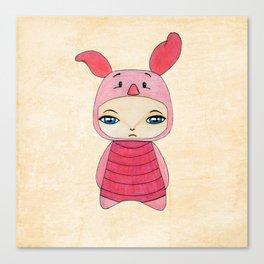 A Boy - Piglet (porcinet) Canvas Print