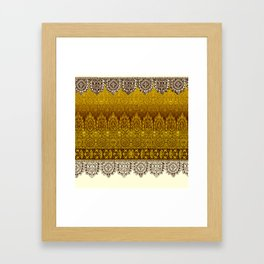 crochet lace in cream Framed Art Print