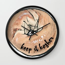 KEEP IT KOSHER Wall Clock