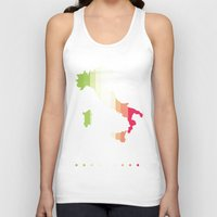 italy Tank Tops featuring Italy by Stormer