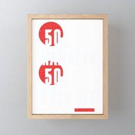 Funny Namaste F*ck Off T-Shirt  Framed Mini Art Print