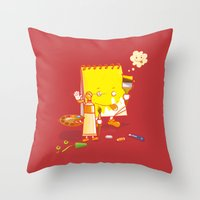 make up Throw Pillows featuring MAKE UP by Wantz