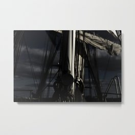 With The Wind In The Night Metal Print